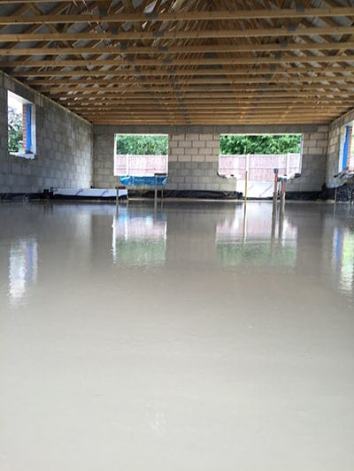 screed in house with newly built house