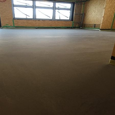 Screed floor, nursery and primary school, Mitcham, London Borough of Merton.