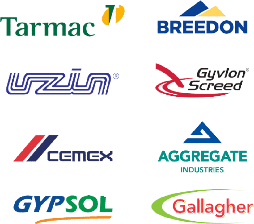 Screeding types - the brands we work with. Flow Screed Services.